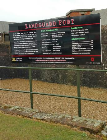 Landguard Fort: At the entrance