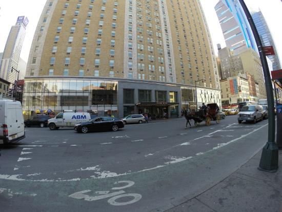 vista externa 8th ave picture of row nyc hotel new york city