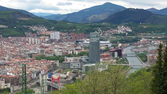 Bilbao from Mount Artxanda - Picture of Funicular de Artxanda, Bilbao - TripA...