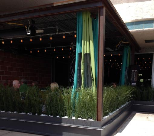 Revo Burrito: Cute Little Patio With Weather Curtains