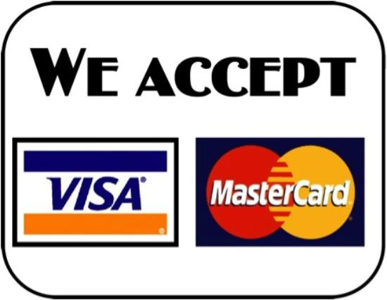 We accept credit cards Visa and Mastercard - Picture of Enrikes