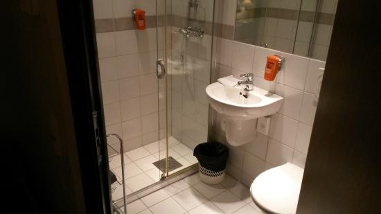 Avaldsnes, Norwegia: Small and clean enough bahtroom.