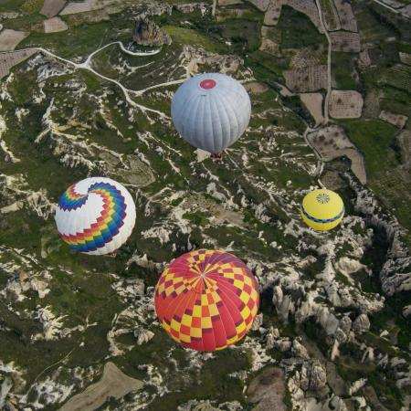 View at 5:30am from the hill above Goreme - Picture of ...