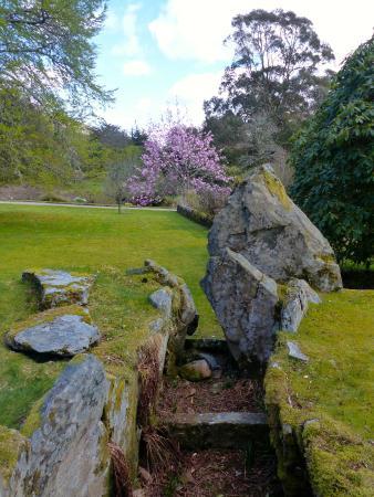 Crarae Garden Argyll: The ancient chambered cairn