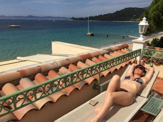 Le Club De Cavaliere & Spa : Vue de la terrasse