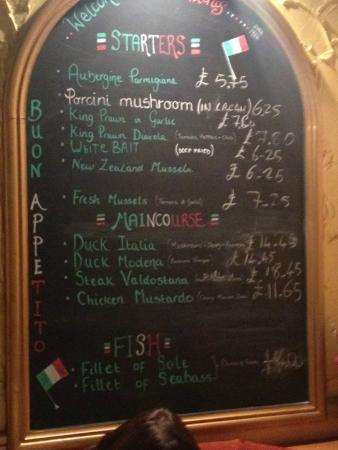 Florios Pizzeria Restaurant: The specials board certainly upped the game