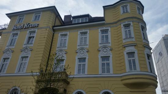 Krone Hotel: façade de l'hôtel