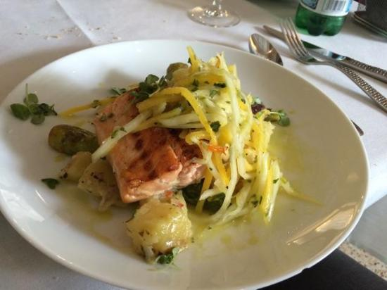 National Hotel Miami Beach: the salmon was delicious. Alexander at the restaurant was super nice and very attentive