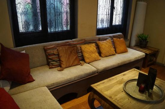 Kasbah: The comfortable bar area
