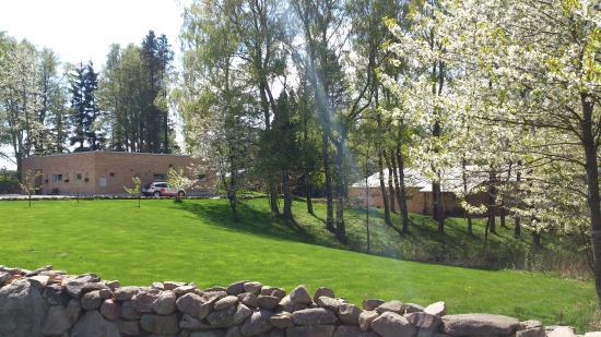 Veberöd, Sverige: trädgård utanför huset