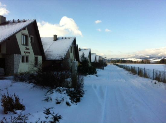 Liptovsky Trnovec, Eslovaquia: Winter_front of the cottage_access road