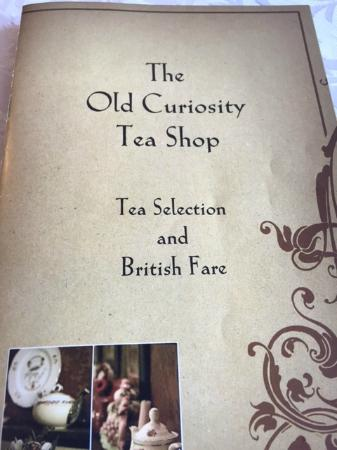 Old Curiosity Tea Shop : The Cute Little Menu