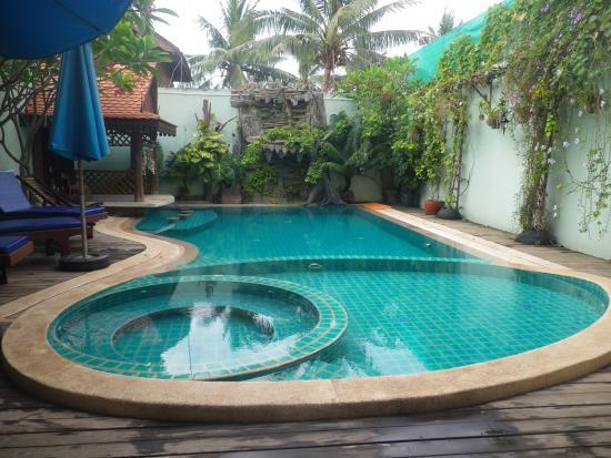The swimming pool at Siem Reap Riverside Hotel.