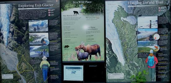 Trails map Picture of Exit Glacier Kenai Fjords National Park