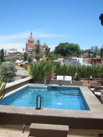 Best Hotels Pool Deck : Deck top pool - Picture of Hotel Nena, San Miguel de Allende ...