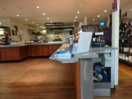 Well laid out food hall picture of restaurant at kilnford barns
