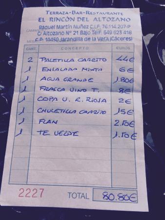 Jarandilla de la Vera, İspanya: Estocada