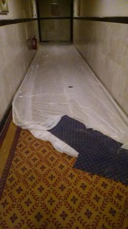 Golden Tulip Al Khobar: Unfortunately, that was what the hallway looked like at the entrance to my room, but otherwise i