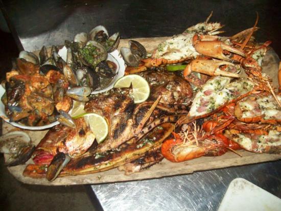 La Union, Ekuador: BAndeja de mariscos
