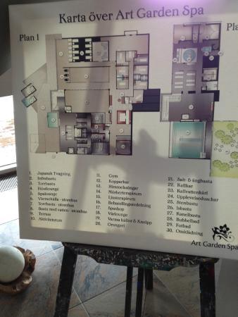 Karta Over Spa Bild Fran Arken Hotel Art Garden Spa Goteborg
