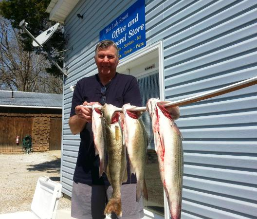 Blue Lady Resort and Sunset Grill: Walleye and striper