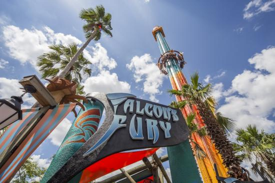 Tampa, FL: Falcon's Fury, North America's Tallest Freestanding Drop Tower