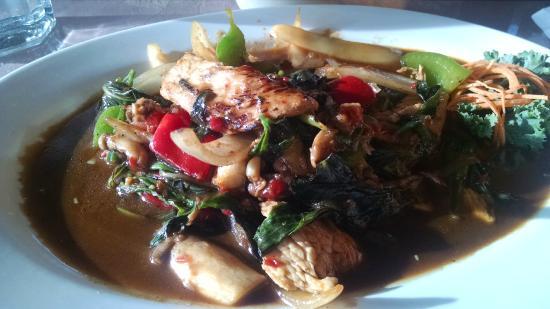 Kham's Thai Cuisine: Tasty Basil Leaves Chicken