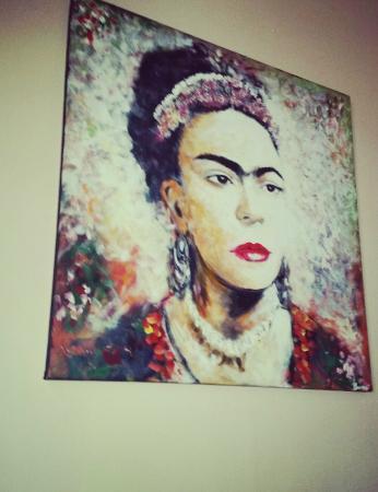 Lupitos Comida Mexican: Painting of Frida Kahlo