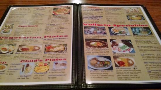 Menu Picture Of Vallarta Mexican Restaurant Florence Tripadvisor