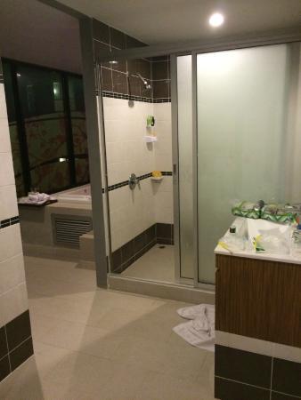 Bhukitta Hotel & Spa: Supersized shower room