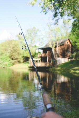 Berlin, OH: Fishing - view of cabin