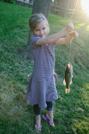 Berlin, OH: Our grand-daughter fishing