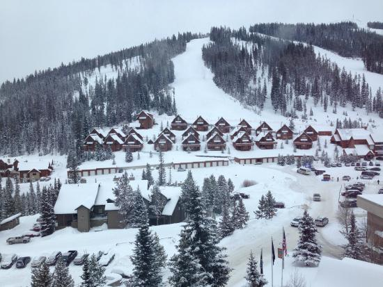 Shoshone Condominium at Big Sky Resort: View from room.