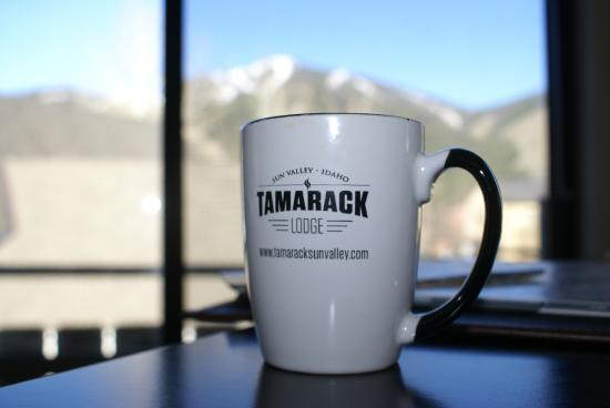 Tamarack Lodge: Coffee & gorgeous view