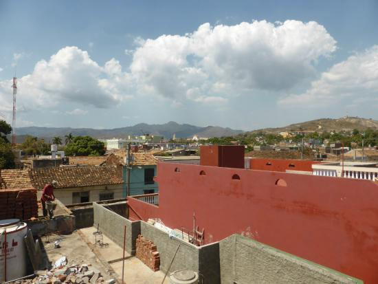Hostal Valmaseda: View from roof terrace and possible extensions to hostal