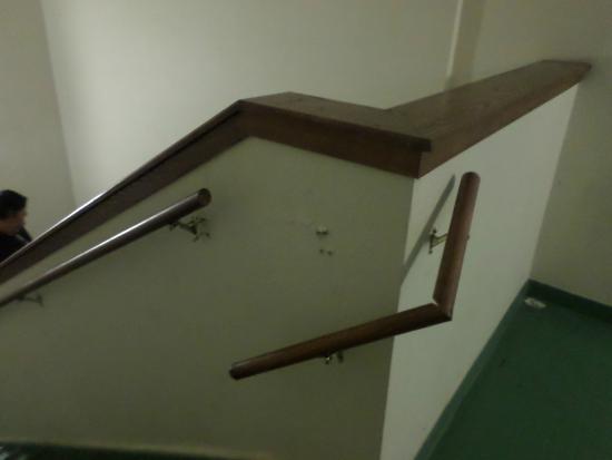 Extended Stay America - Jacksonville - Lenoir Avenue East: Broken stair banister on 3rd floor stairwell.