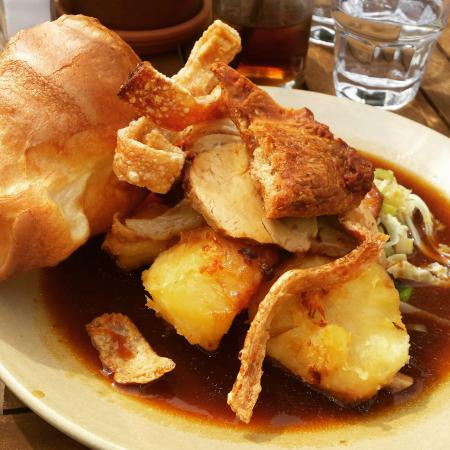 The Stag on the River: Roast Pork and Crackling