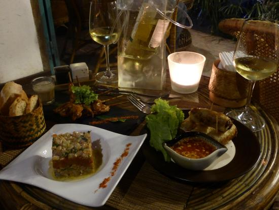 Ceviche and crispy spring rolls + + - Picture of Tangor, Luang Prabang ...