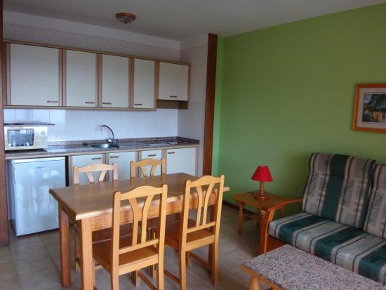 Lago Azul: salon et coin cuisine