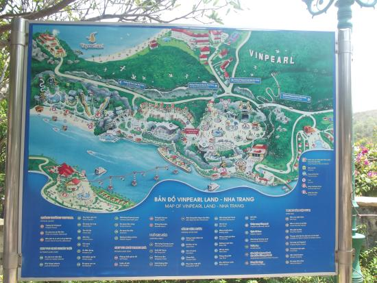 Map of Island Picture of Vinpearl Land Amusement Park Nha Trang