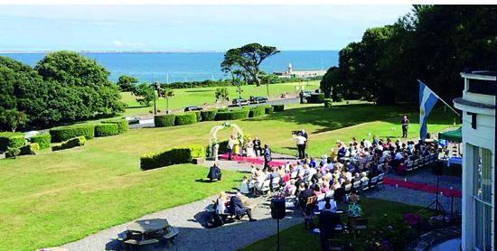 The Haven Hotel Outdoor Wedding