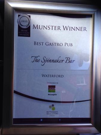 The Spinnaker Cafe Bar & Restaurant: Best gastro pub in waterford