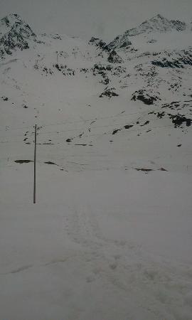Albergo Ospizio Bernina : Sentiero visto dall'ospizio