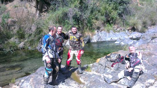 LetsRide Spain: Myself, Rob and Paul taking a well needed rest