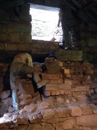 Bonawe Iron Furnace: Stoking the furnace