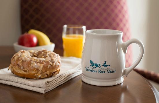 Travelers Rest Motel: Breakfast
