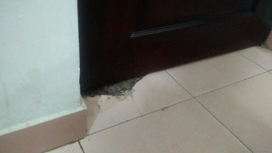 DE Santhosh Residency: Insecure door that was broken on top and bottom & Insecure door that was broken on top and bottom - Picture of DE ... Pezcame.Com