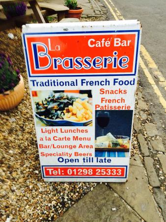 Le Brasserie de la Cour: The sign