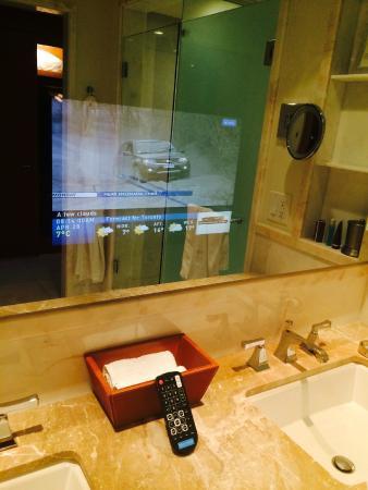 The Ritz Carlton Toronto TV In Bathroom Mirror
