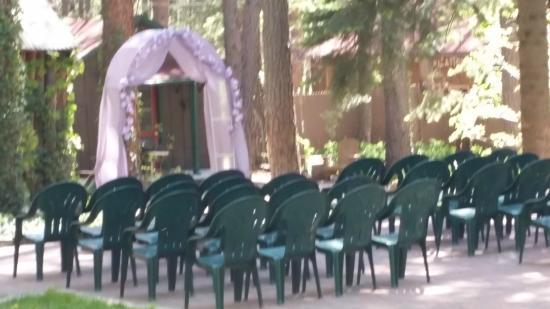 The Butterfly Garden Inn: Wedding Set Up